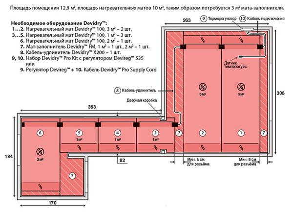 Как сделать монтаж Теплого пола DevidryTM100