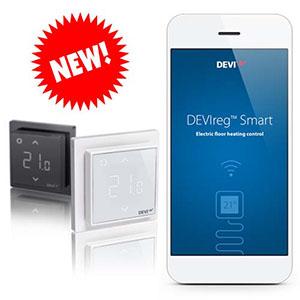 Терморегулятор с сенсорным дисплеем и интеллектуальным таймером Devireg™ Smart купить в Украине